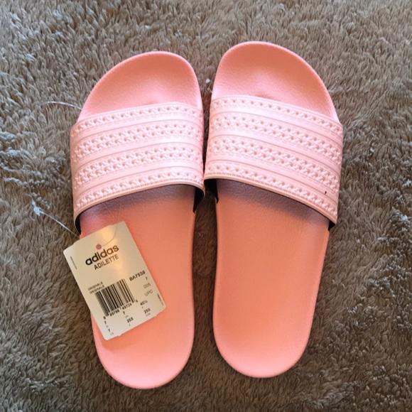 adidas shoes brand new baby pink slides poshmark